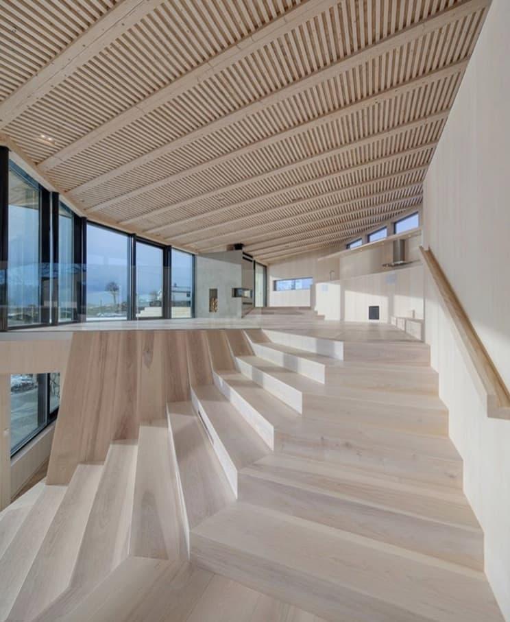 Norwegian Island House Staircase