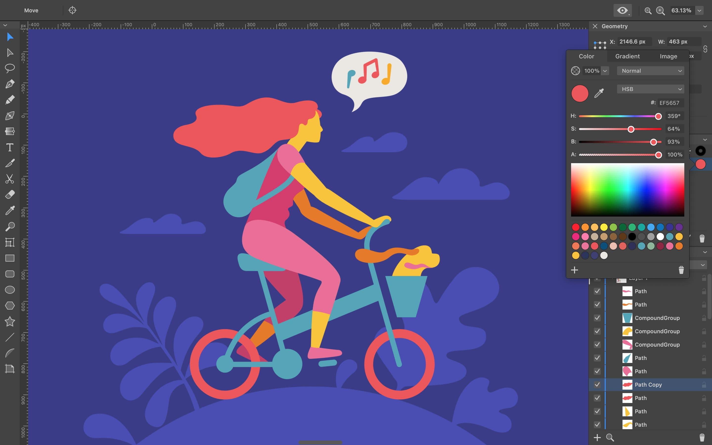 Amadine Vektor-Zeichenprogramm für den Mac