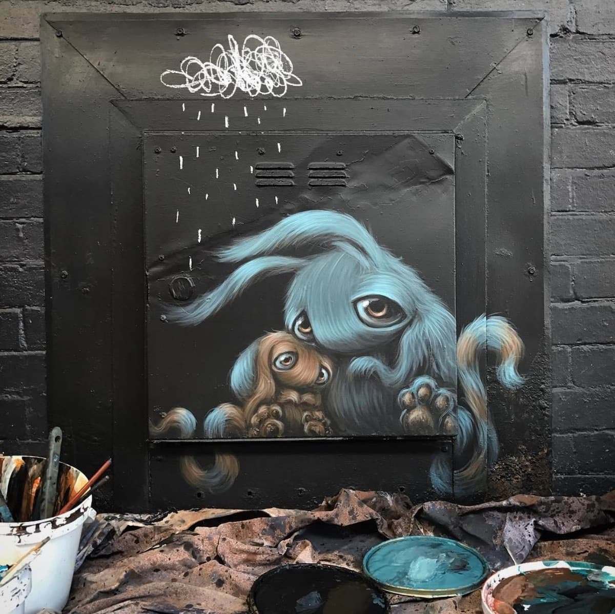 Hayley Welsh Straßenkunst Wandbilder