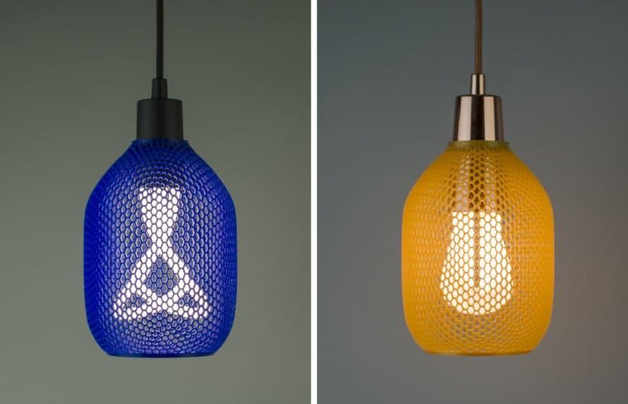 Plumen Hive - Kompostierbarer Lampenschirm aus dem 3D-Drucker