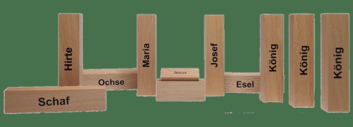 Die minimalistsche Weihnachtskrippe von Oliver Fabel