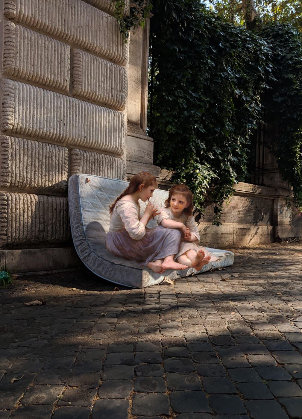 Alexey Kondakov - Fotomontagen mit klassischen Figuren