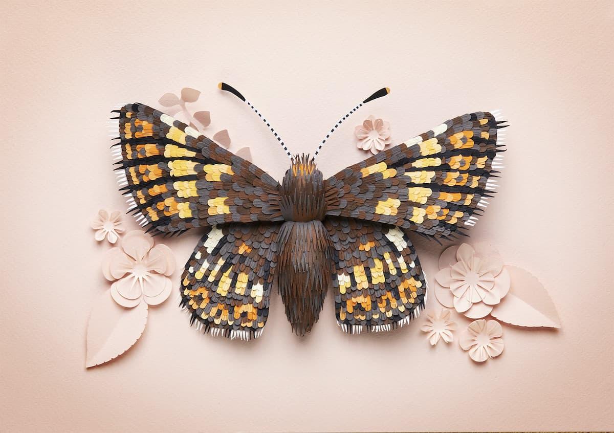 Lisa Lloyd Realistische Tierfiguren aus Papier
