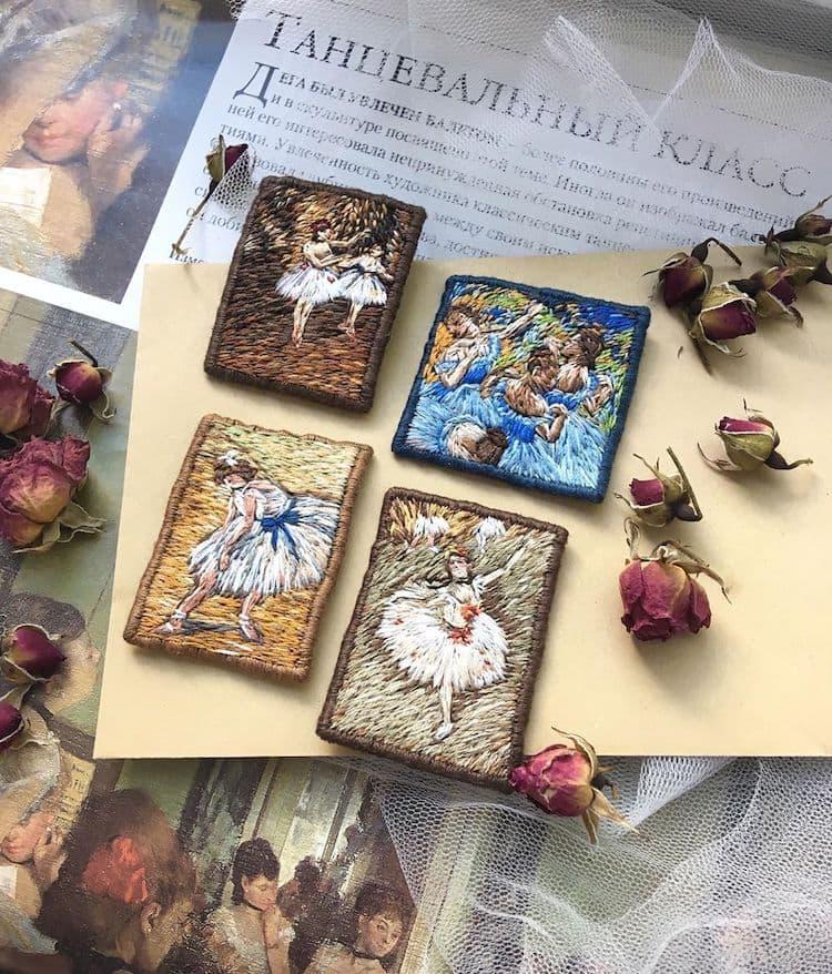Ira Kutsyna - Miniaturstickereien großer Meisterwerke
