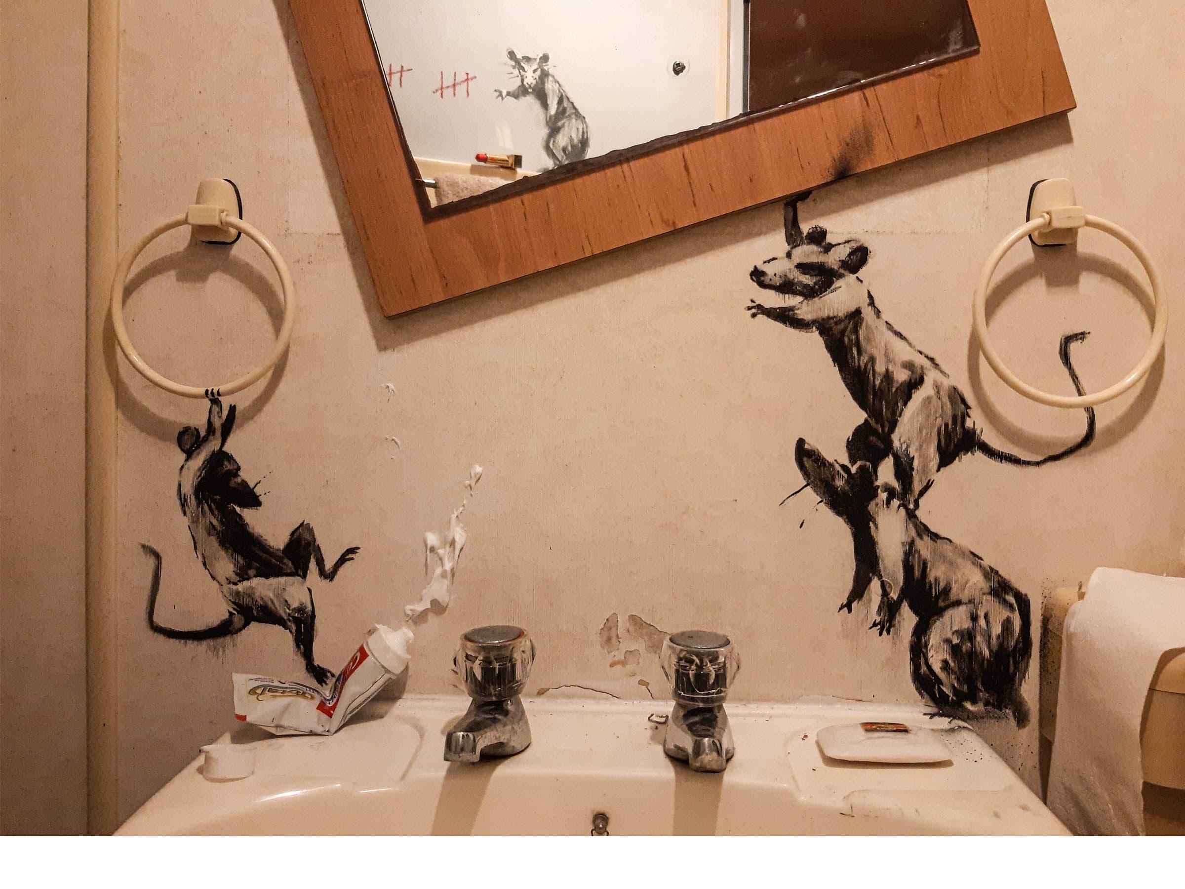 Banksy Covid-19 Rat Installation