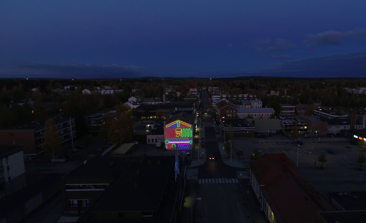 Spidertag Interactive Mural in Finland