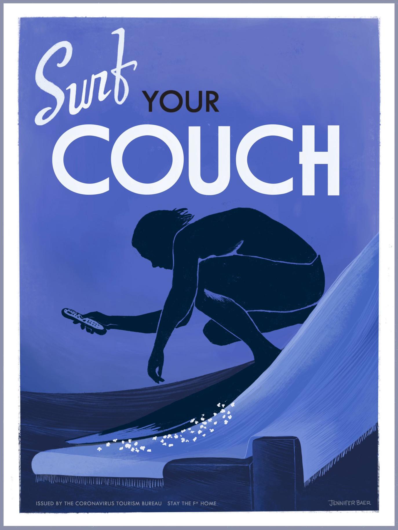 Jennifer Baer - Coronavirus Tourist Office Posters