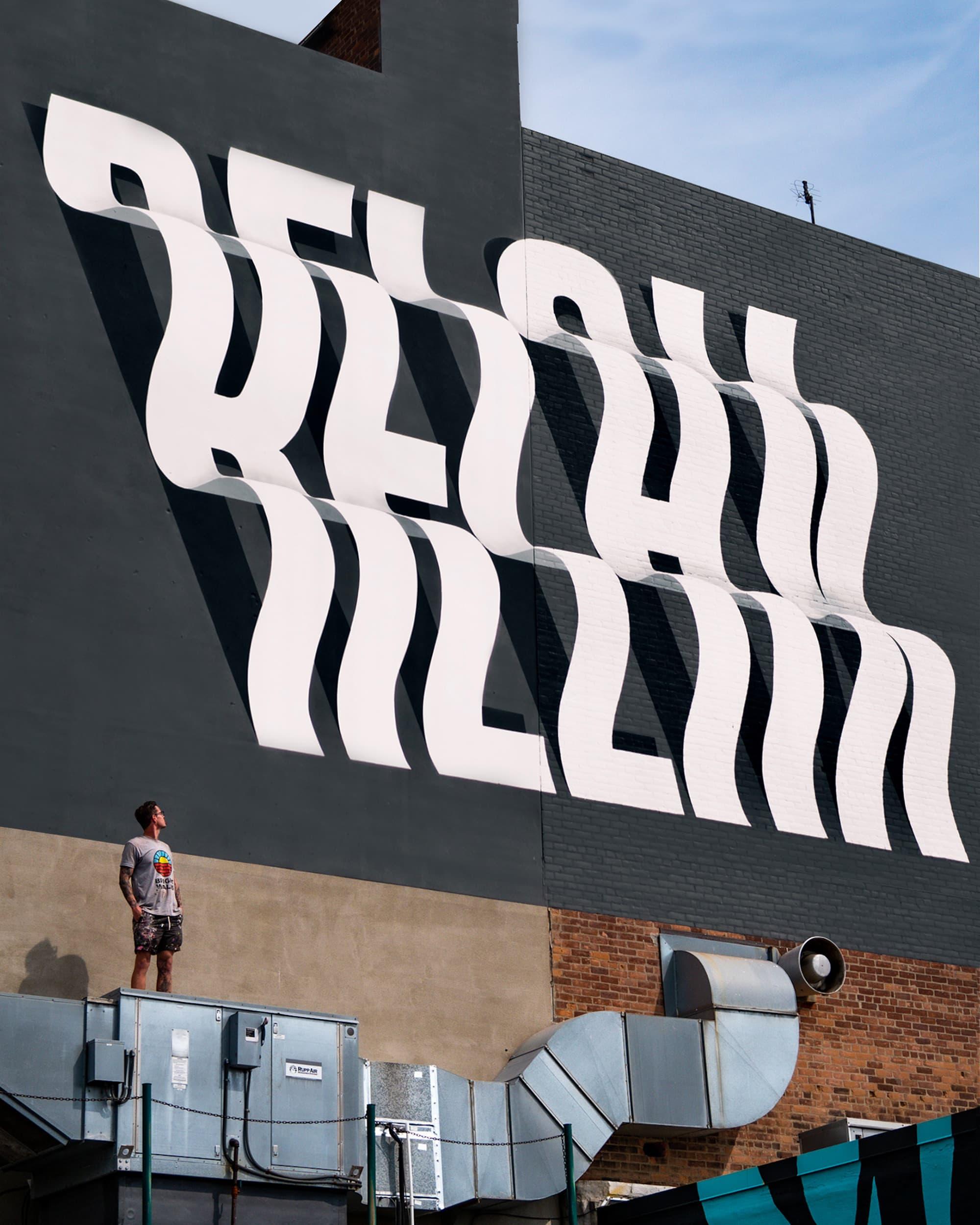 Ben Johnston - Typografische Wandmalerei