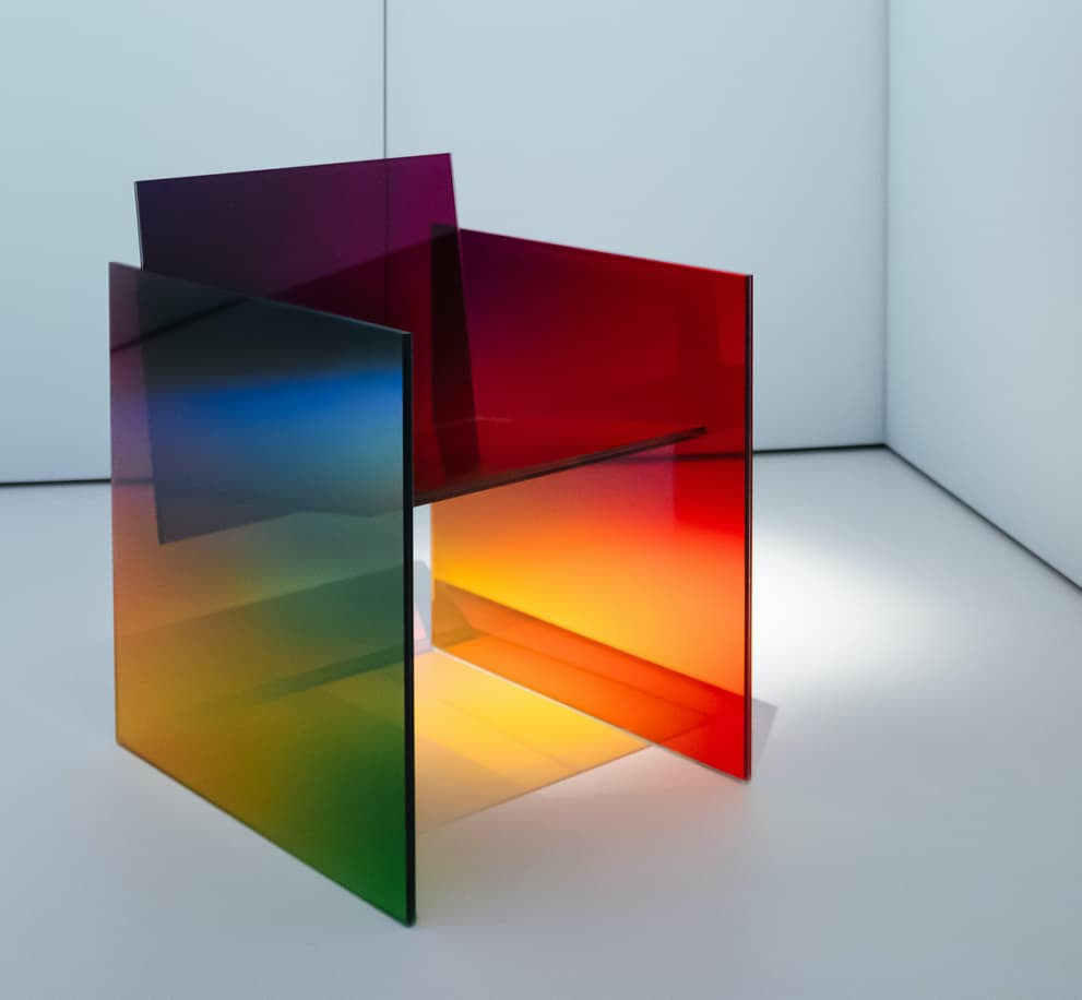 Germans Ermics Ombre Glass Chair Design